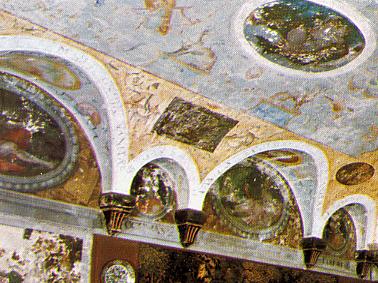 château d'Ancy-le-Franc - la salle des Empereur romain