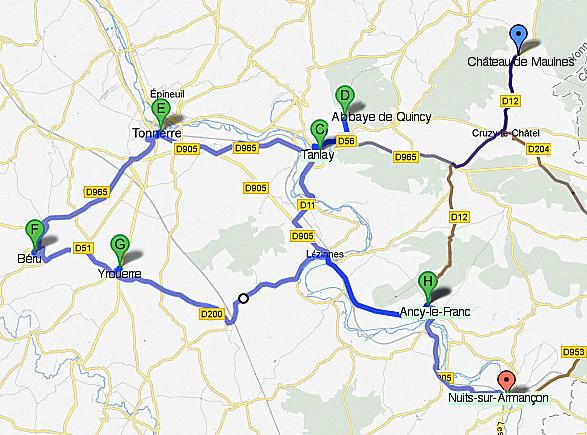 Carte Touristique De Tonnerre Et Du Tonnerrois